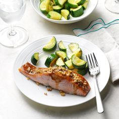 Walnut-Crusted Ginger Salmon Recipe -For those who aren't wild about fish, this gingery salmon is a game-changer. Baking on foil makes for extra-easy cleanup. —Becky Walch, Orland, California