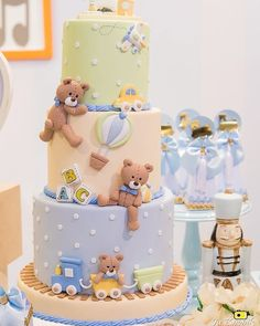(notitle) 7 Source by Teddy Bear Baby Shower, Baby Shower Cakes For Boys, Baby Boy Cakes, Boy Baby Shower Themes, Baby Shower Parties, Baby Boy Birthday Cake, Cute Birthday Cakes, Baby Shower Wall Decor, Baby Shower Decorations