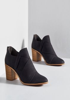Slip into these black booties from BC Footwear, and prepare for your look to reach bold new heights. PETA-approved vegan, these unique kicks flaunt overlapping accents, supportive block heels… Cute Womens Shoes, Cute Shoes, Me Too Shoes, Bootie Boots, Shoe Boots, Women's Shoes, Shoes Sneakers, Women's Booties, Shoes Style