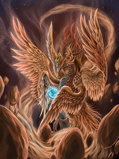 Legend of the Phoenix Bird | Fire bird by ~SpaceWeaver on deviantART