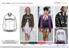 Discover the new SS18 fashion development designs for SPORTY FEMININE Macro theme.