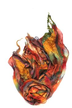 Nuno felted scarf wrap by the ultra-talented Marina...