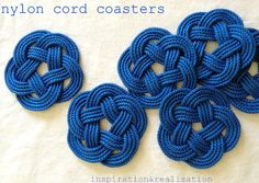 DIY Nautical Knot Coasters: http://www.completely-coastal.com/2015/05/diy-coastal-nautical-coasters.html