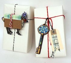 reindeer book art/DIY download, Santa Key - for those without chimneys