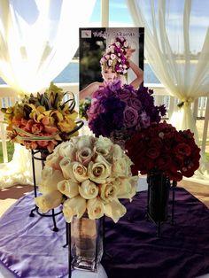 Newport Dunes Bridal Show 2013 #weddings #brides #bridal #bouquets #colors #white #red #yellow #purple #pretty  #beachside #beach #love
