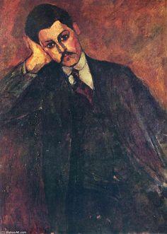 'Porträt von Jean Alexandre', öl auf leinwand von Amedeo Modigliani (1884-1920, Italy)