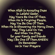 May Allah, Subhana wa ta ala, accept all our Duas and forgive all our sins. May we all emerge from Ramadan in shaa Allah with polished hearts to sustain us the next 11 months in shaa Allah Quran Quotes, Islamic Quotes, Praying For Your Family, Jumma Mubarak Quotes, Hadith Of The Day, Fantastic Quotes, May We All, Reminder Quotes, Good Morning Messages