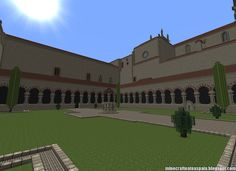 ¡MINECRAFTEATE!: Réplica Minecraft del Monasterio de San Pedro de Cardeña, Burgos, España.