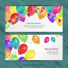 Invitaciones de cumpleaños Vector Gratis