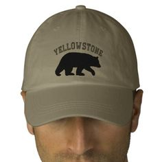 Black Bear Baseball Cap - Text is Customizable, Want it cheaper? Use this link for coupons: https://www.zazzle.com/coupons?rf=238077998797672559