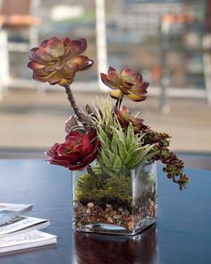 Faux Succulent Floral Accent