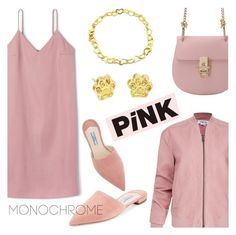"""Pink it!"" by donna-italiana ❤ liked on Polyvore featuring Helmut Lang and Prada"