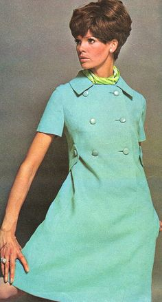 Model Marola Witt is wearing a creation by Larry Aldrich.  New York Designer's Patterns,1967.