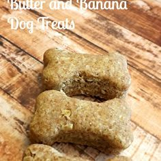 Oatmeal, Peanut Butter and Banana Dog Treats Recipe Desserts with eggs, peanut butter, whole wheat flour, oats, mashed banana