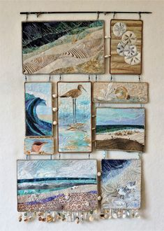 Original fiber art quilt by Eileen Williams Beachcomber. Original fiber art quilt by Eileen Williams Beachcomber. Original fiber art quilt by Eileen Williams Fiber Art Quilts, Textile Fiber Art, Textile Artists, Ocean Quilt, Beach Quilt, Quilt Stitching, Patchwork Quilting, Art Quilting, Quilting Ideas
