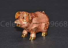 New Beautiful Luxurious Pig Trinket Box Treasure With Austrian Crystal
