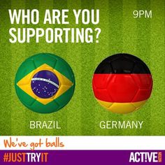 Who are you supporting? Brazil vs Germany #worldcup
