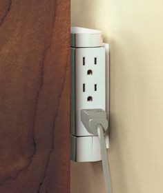 Side Socket™ Swivel Outlet - the outlet swivels 90 degrees, so your plugs can face any direction #LakesideCollection