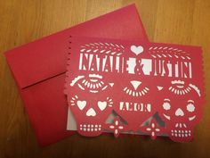 Laser cut Greeting card Skull Dia de los by Vintagebabydoll