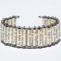 Braccialetto della perla gioielli-Italian Upcycled carta di Tanith