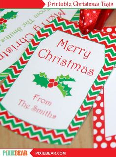 Christmas Gift Tags - Printable Christmas Labels, Personalized To From Tag, Editable Holiday Tags Template, Christmas Teacher Tags for Kids Christmas Gift Tags Template, Christmas Labels, Christmas Printables, Party Printables, Christmas Gifts, Printable Tags, Templates Printable Free, Label Templates, Wrapping Ideas