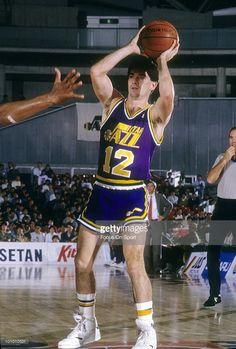 CIRCA 1990 s  Point Guard John Stockton  12 of the Utah Jazz looks to pass 8109271a9