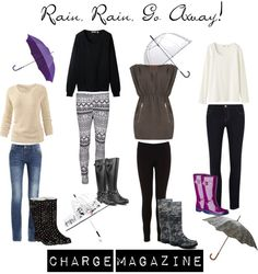 """Rain, Rain, Go Away!"" by chargemagazine on Polyvore"