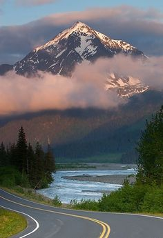 .Alaskan highway....over 2,000 miles long.....drove there in 2002...had no jack, no spare tire, and no cell phone!  I guess since I was traveling into God's country, that he was looking out for me and my son, Morgan, who also took the trip with me.