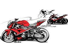 bmw moto design sketch