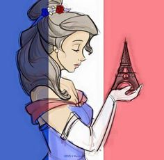 Belle ♡ #PrayForParis  I give good credit to whoever made this