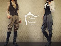 "retro and classic - Riding-style pants for the ""maiden"""