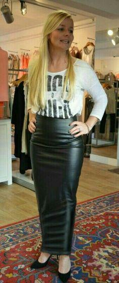 Leather hobble skirt
