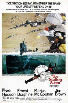Ice Station Zebra (1968) USA MGM War. D: Jim Sturges. Rock Hudson, Ernest Borgnine, Patrick MacGoohan, Jim Brown, Lloyd Nolan. 06/03/02