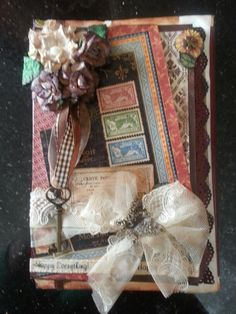 Handmade country journal Arts And Crafts, Diy Crafts, Pick And Mix, Bookmarks, Handmade Cards, Journals, Shabby, Country, Frame