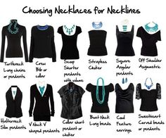 Choosing necklaces for necklines.