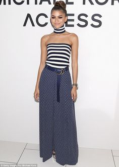 Ahoy there: Zendaya looked in fine form at the Michael Kors Access Smartwatch launch in New York on Sunday