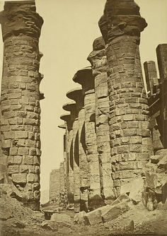 Karnak. Temple of Amon, Hypostyle Hall - A. D. White Architectural Photographs, Cornell University Library