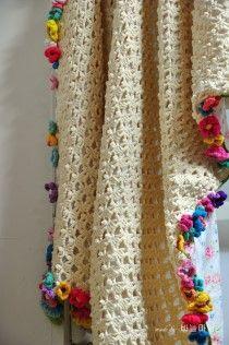 Crochet Afgans, Knit Or Crochet, Crochet Motif, Crochet Shawl, Crochet Stitches, Crochet Flower Patterns, Afghan Crochet Patterns, Crochet Flowers, Braided Rag Rugs