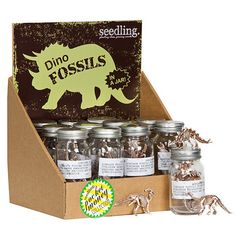 Dino Fossils in a Jar! Great party favors