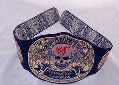 Stone Cold Steve Austin - Smoking Skull WWF/WWE Championship Title Belt - Adult Wwe Tna, Stone Cold Steve, Steve Austin, Professional Wrestling, Porsche Logo, Ufc, Belts, Skull, Smoking