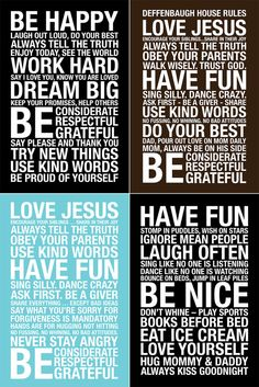 House rules..love