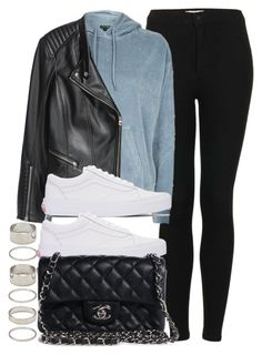 """Style #11728"" by vany-alvarado ❤ liked on Polyvore featuring Topshop, Vans, Chanel and Forever 21"