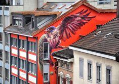 STREET ART -  EAGLE  (Straat kunst)