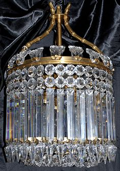 Antique crystal chandelier from Baccarat.