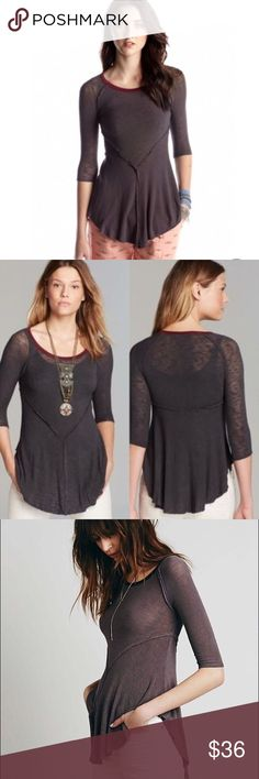 {free people} drapey top New with tags. See last photo for product specifications. Color being sold is shown in the cover (first) photo Free People Tops Tees - Long Sleeve