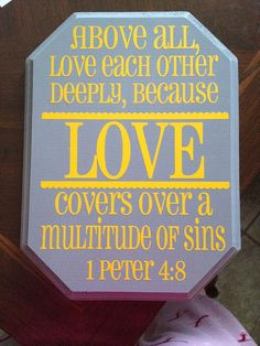 1 Peter 4:8-9 And above all things have fervent charity among yourselves: for charity shall cover the multitude of sins. Use hospitality one to another without grudging.