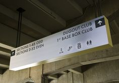 Dodger Stadium Field Level Signage by J.B. Chaykowsky, via Behance