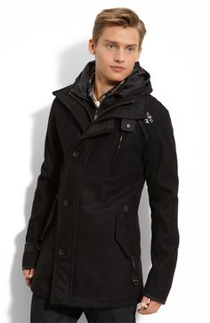 Superdry 'Premier' Hooded Trench Coat