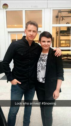 Arriving at the screening of #OnceUponATime Musical! #snowing #ONCE