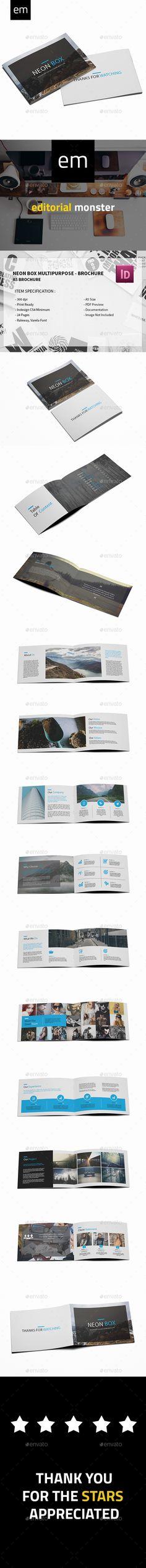 Neon Box - Corporate Multipurpose Brochure Template InDesign INDD